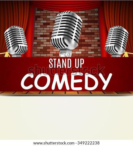 stand up comedy show flyer ...