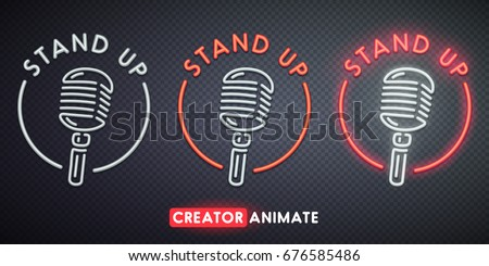 stand up neon sign creator