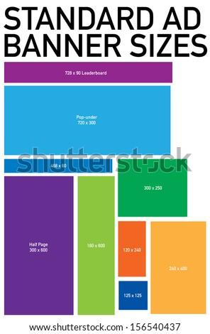 standard advertising web banner size template stock vector illustration 156540437 shutterstock