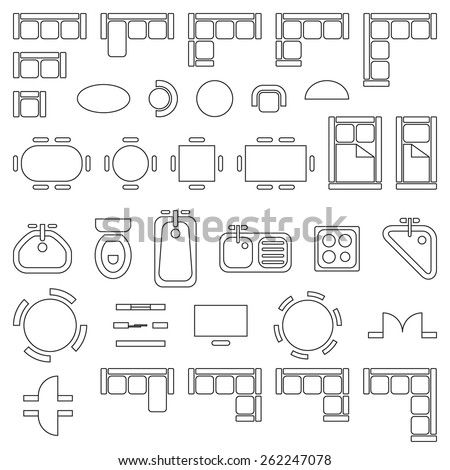 Door Symbol Architectural Drawing Standard Furniture Symbols