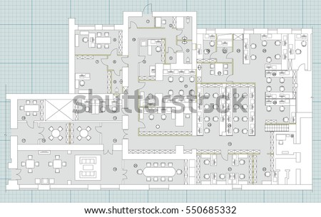 Office floor plan vectors download free vector art stock graphics standard office furniture symbols set used in architecture plans office planning icon set graphic malvernweather Image collections