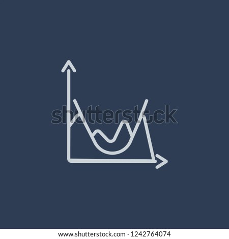 Standard & Poor's 500 stock index icon. Trendy flat vector line Standard & Poor's 500 stock index icon on dark blue background from business   collection.
