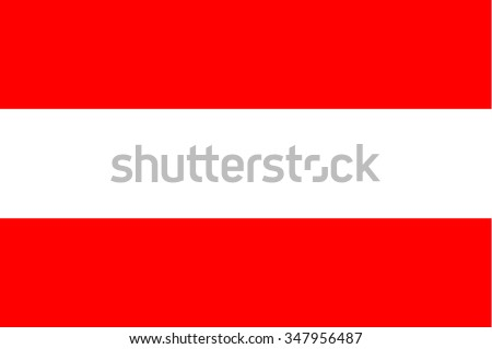 Standard Proportions for Austria Flag Country