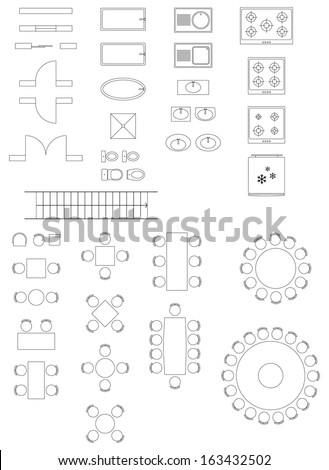 Standard Symbols Used In Architecture Plans Icons Set