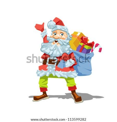 Standard vector illustration of Santa Claus.