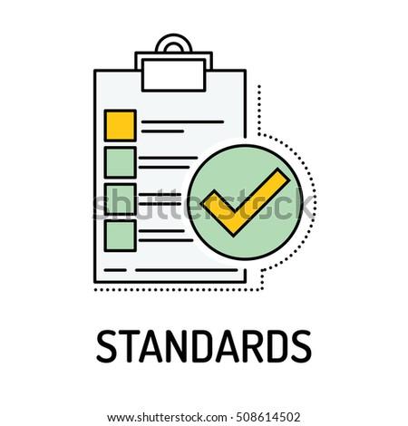 STANDARDS Line icon Stock photo ©