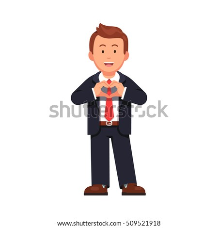 standing business man showing