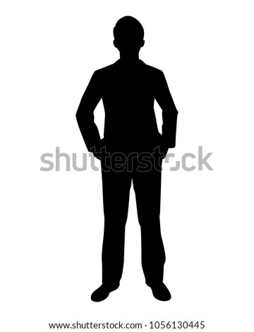 Royalty-free Man silhouette standing. Vector figure ...