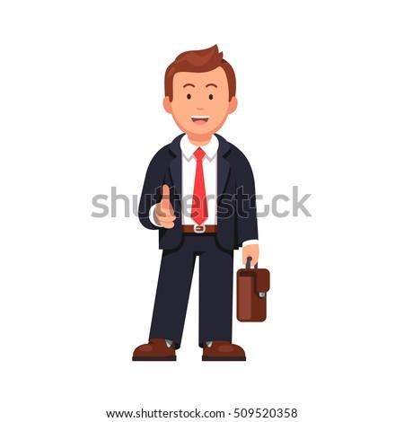 standing businessman stretching