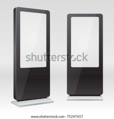 Standing digital poster sign. Vector illustration Eps 10.