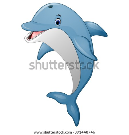 standing dolphin cartoon