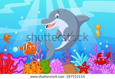 standing dolphin illustration