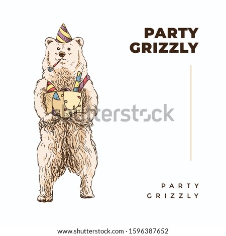 standing grizzly bear wear and
