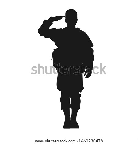 standing military army soldier