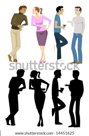 Standing People Collection 1-vector
