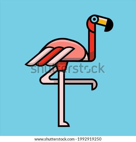 Standing with one leg Flamingo