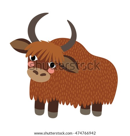 standing yak animal cartoon