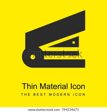 Stapler bright yellow material minimal icon or logo design