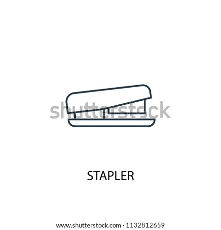 Stapler concept line icon. Simple element illustration. Stapler concept outline symbol design from Workspace set. Can be used for web and mobile UI/UX
