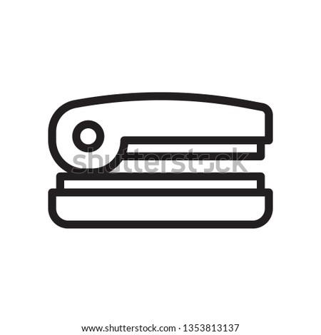 Stapler icon in trendy outline style design. Vector graphic illustration. Stapler icon for website design, logo, and ui. Editable vector stroke. EPS 10.