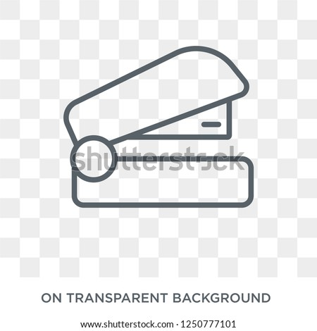 Stapler icon. Trendy flat vector Stapler icon on transparent background from E-learning and education collection. High quality filled Stapler symbol use for web and mobile