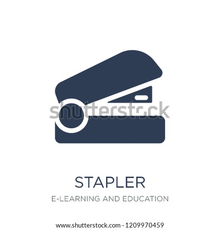 Stapler icon. Trendy flat vector Stapler icon on white background from E-learning and education collection, vector illustration can be use for web and mobile, eps10