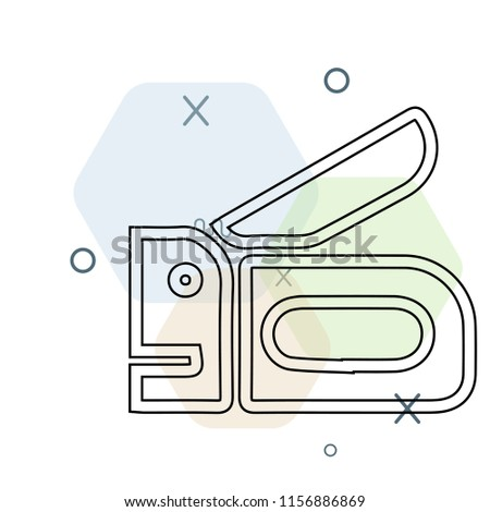 Stapler icon vector can be used as png, Stapler
