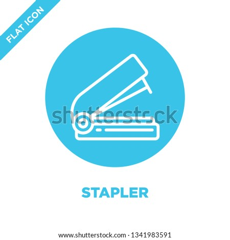 stapler icon vector from stationery collection. Thin line stapler outline icon vector  illustration. Linear symbol for use on web and mobile apps, logo, print media.