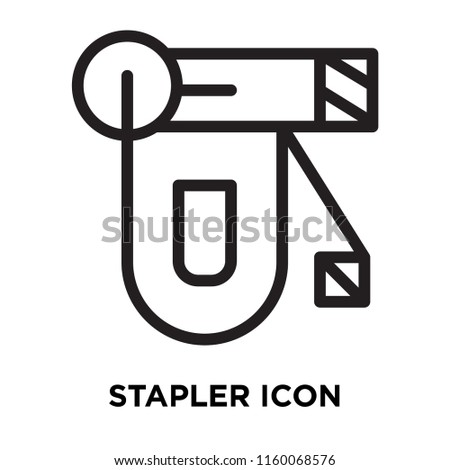 Stapler icon vector isolated on white background, Stapler transparent sign , line symbol or linear element design in outline style