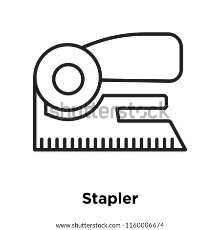 Stapler icon vector isolated on white background, Stapler transparent sign , sign and symbols in thin linear outline style