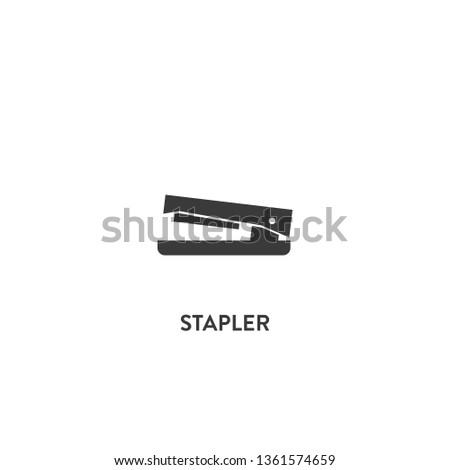 stapler icon vector. stapler sign on white background. stapler icon for web and app