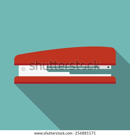 stapler icon with long shadow. flat style vector illustration