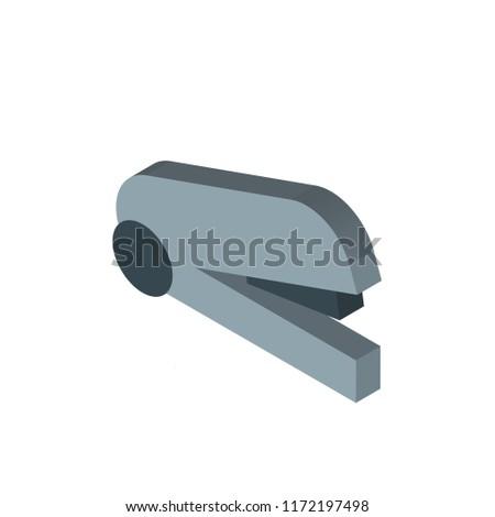 Stapler isometric left top view 3D icon