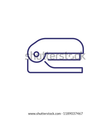 Stapler line icon. Clip, fastener, stapling. Office supply concept. Can be used for topics like stationary, document, paperwork