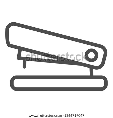 Stapler line icon. Staple vector illustration isolated on white. Tool outline style design, designed for web and app. Eps 10