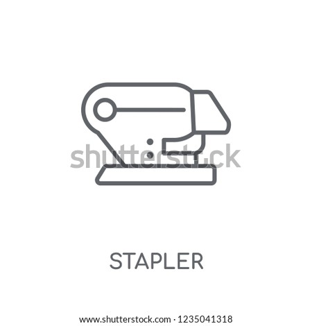 Stapler linear icon. Modern outline Stapler logo concept on white background from E-learning and education collection. Suitable for use on web apps, mobile apps and print media.