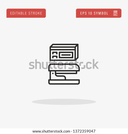 Stapler linear vector icon. Modern outline Stapler logo concept from Stationery collection. Suitable for use on web apps, mobile apps and print media.