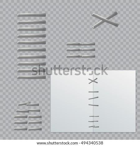 Stapler pin. Staples, isolated.