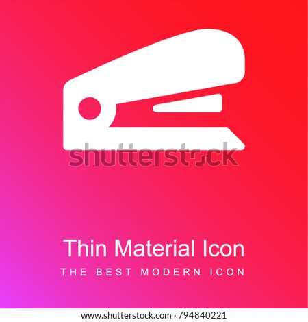 Stapler red and pink gradient material white icon minimal design