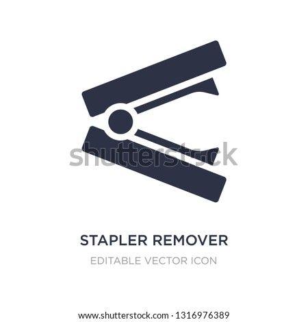stapler remover icon on white background. Simple element illustration from Miscellaneous concept. stapler remover icon symbol design.