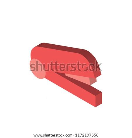 Stapler remover isometric left top view 3D icon