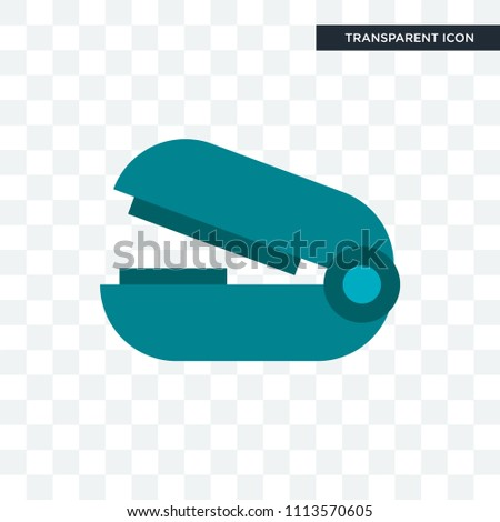 Stapler remover vector icon isolated on transparent background, Stapler remover logo concept