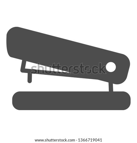 Stapler solid icon. Staple vector illustration isolated on white. Tool glyph style design, designed for web and app. Eps 10