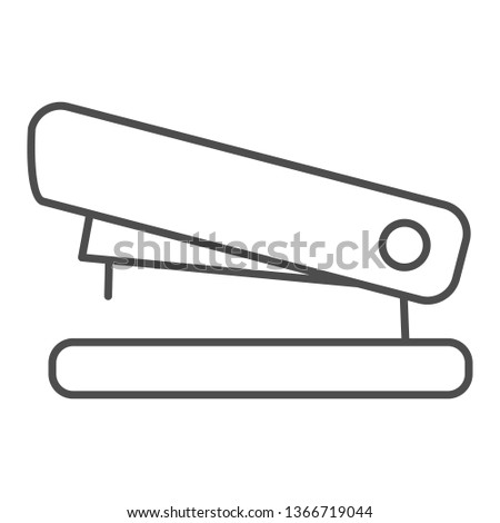 Stapler thin line icon. Staple vector illustration isolated on white. Tool outline style design, designed for web and app. Eps 10