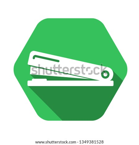 stapler vector green icon in modern flat style isolated. stapler support is good for your web design.