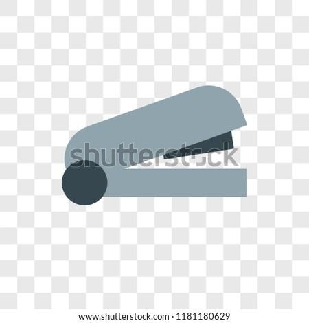 Stapler vector icon isolated on transparent background, Stapler logo concept