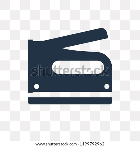 Stapler vector icon isolated on transparent background, Stapler transparency concept can be used web and mobile
