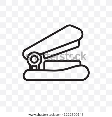 Stapler vector linear icon isolated on transparent background, Stapler transparency concept can be used for web and mobile