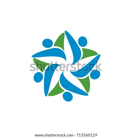 Star Abstract Figure Logo Design Template Vector #713560129
