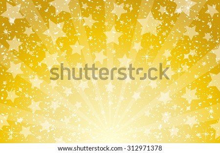 star and confetti background